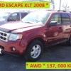 ** FORD ESCAPE XLT 4WD 2008 **